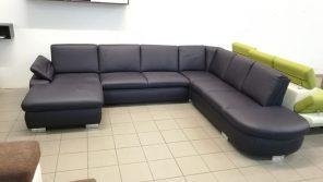 Valódi bőr U alakú kanapé