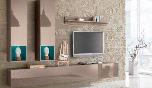 Cappucino színű nappali bútor