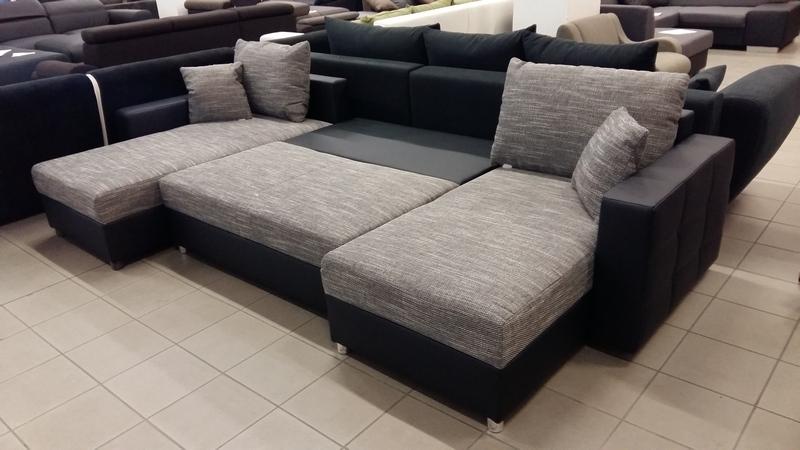 Ágynak nyitható, fiatalos u alakú kanapé