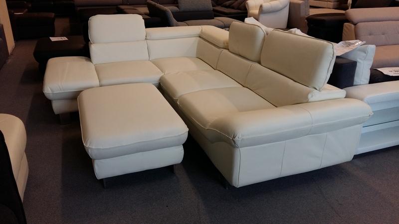 VALÓDI bőrrel készült balos állású DRIVER kanapé hihetetlen áron megvásárolható