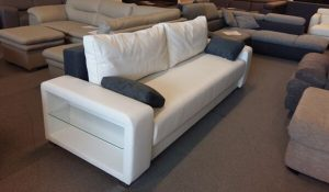 Toronto kanapé szürke, fehér színben