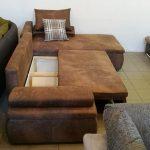 A CESARO kanapé ágyneműtartója az ülőfelület alatt található