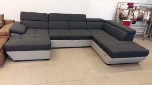 Kényelmes U alakú ülőgarnitúra