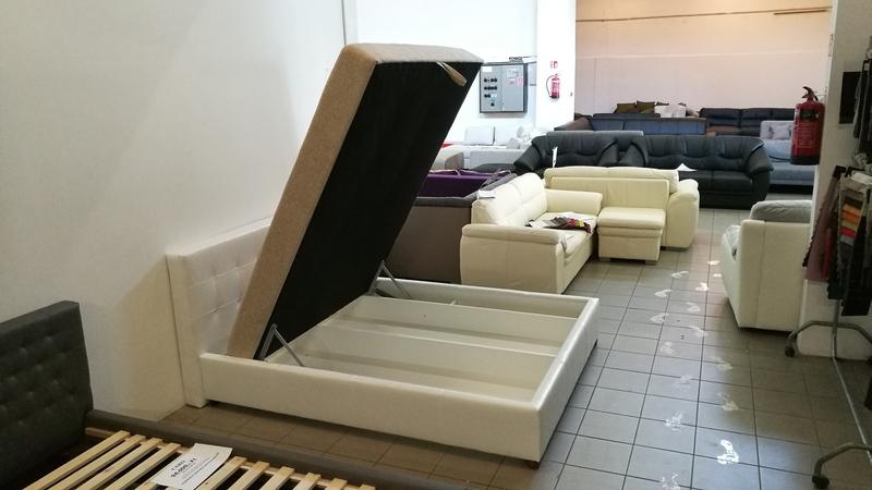 JERSEY hatalmas ágyneműtartós, modern franciaágy
