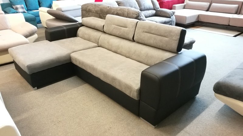 DYB sarok, állítható fejtámlás modern bútor többféle színben rendelhető és többféle színben raktáron IS