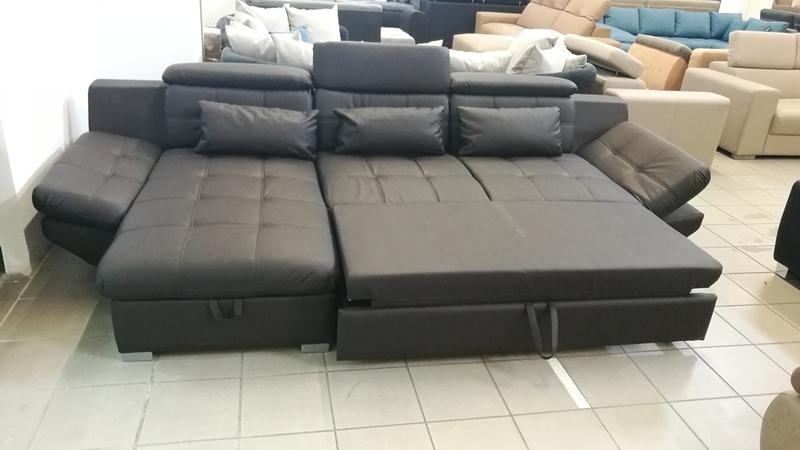 Eternity barna színű kanapé, 130 cm x 235 cm fekvőfelületű ágynak nyitható