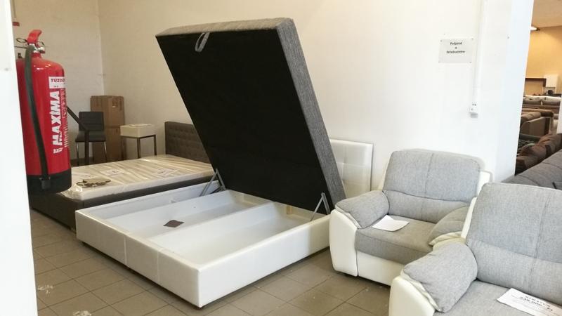 JERSEY 180 cm x 200 cm-es fekvőfelületű, hatalmas ágyneműtartós kárpitozott ágy