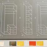 MAXI gardrób belső felépítése, rendelhető színei