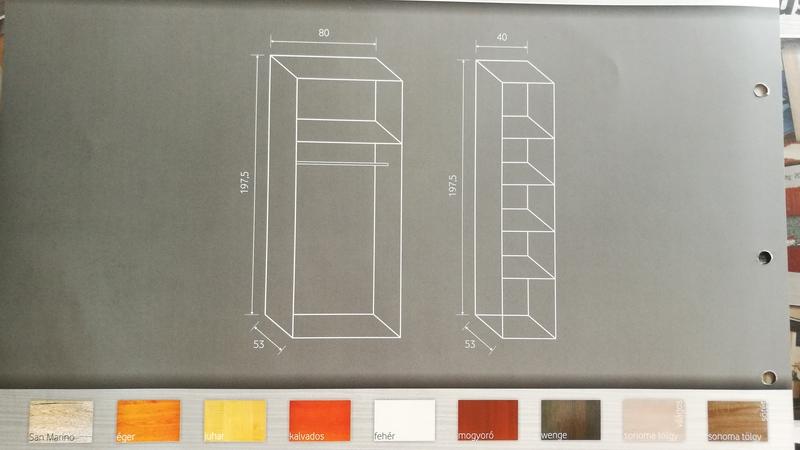 A bútor felépítése és színei
