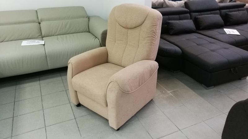 BASTIAN caramell színű szövettel készült, relax kényelmi fotel