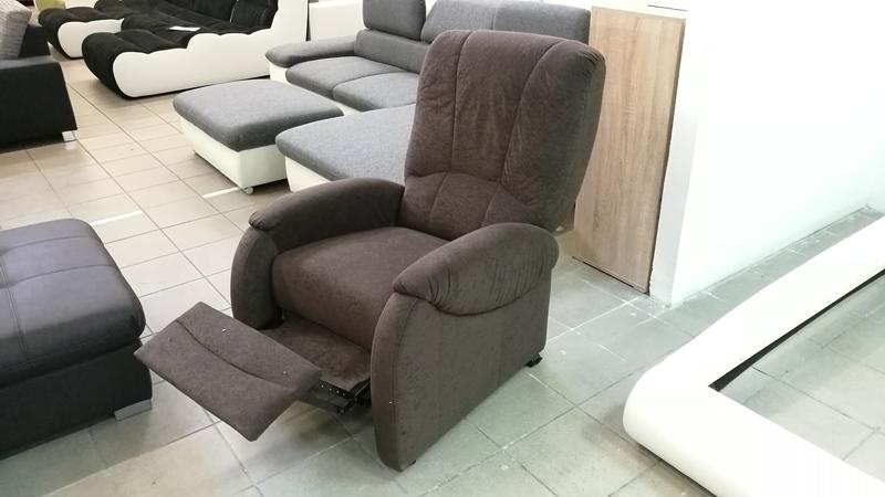 TREND relax fotel, barna színű szövettel készült
