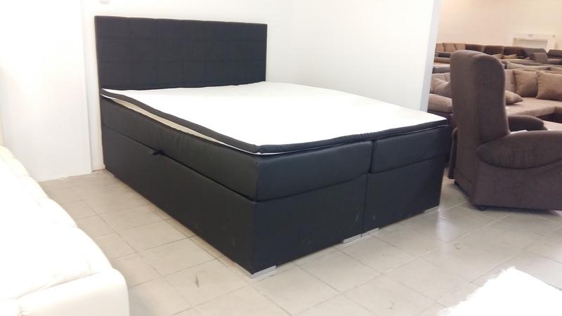 Modern magasított fekvőfelületű, dupla ágyneműtartós franciaágy