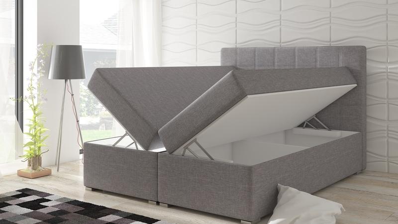 Dupla ágyneműtartós modern ágy