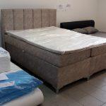 LEDES fénnyel felszerelt EXTRA magas, kényelmes dupla ágyneműtartós ágy FEDŐMATRACCAL