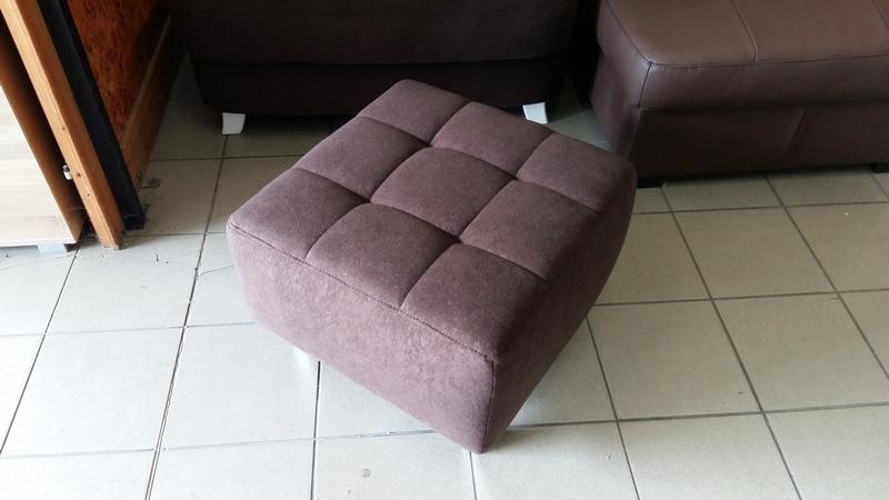 Csokoládébarna színű PABLO puff praktikus lakáskiegészítő bútor