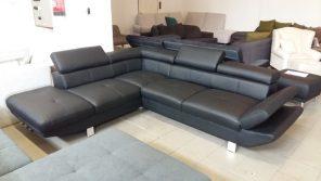 Elegáns, textilbőrrel készült modern kanapé