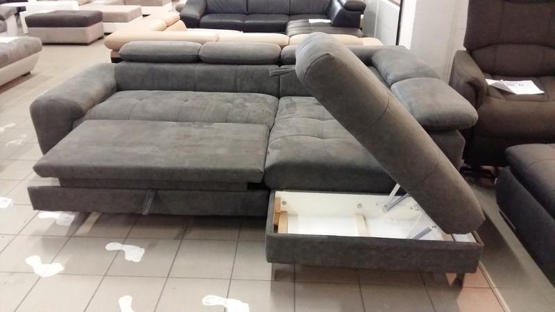 Ágynak nyitható, ágyneműtartós sarokkanapé