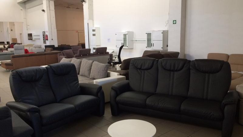Cantus 3 és 2 személyes kanapé fekete textilbőr kárpittal
