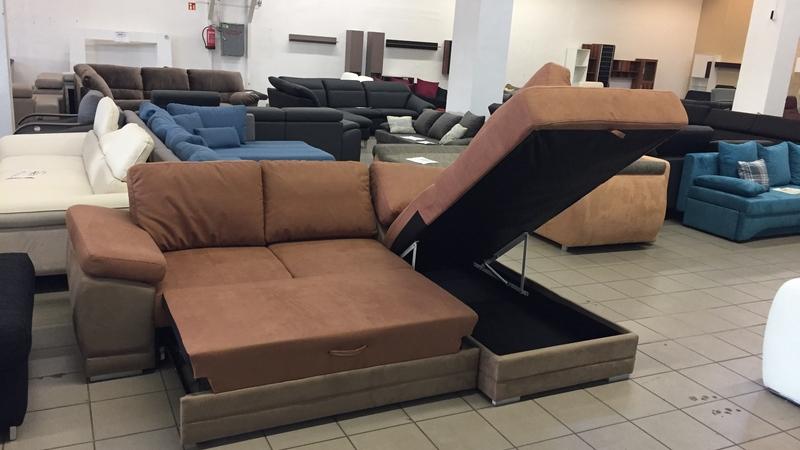 Lido sarok hatalmas, felnyíló ágyneműtartóval