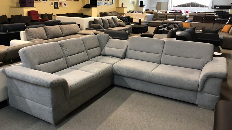 Ginger L alakú kanapé dönthető háttámlával