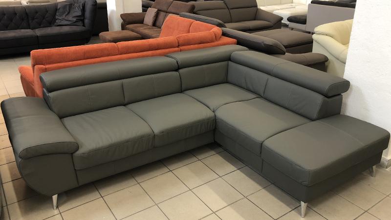 Finca valódi bőr L alakú kanapé