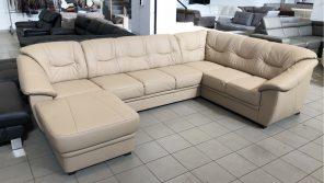 Savona U alakú, valódi bőr kanapé