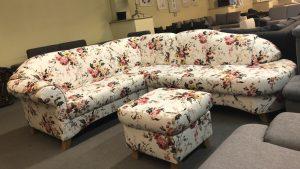 Myfair ülőgarnitúra íves, vintage stílusban