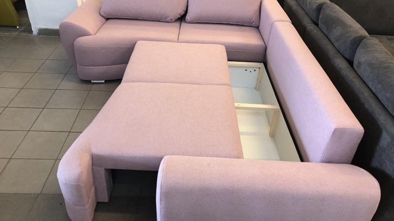 Benite L alakú kanapé nagy ágyneműtartóval