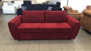 Multiflexx vörös kárpitozású kétszemélyes kanapé