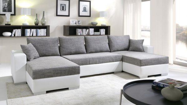 """ENRICO """"U"""" alakú ágyazható kanapé"""