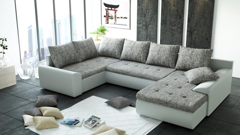 """JOEY II. """"U """"alakú bonell rugós, kényelmes kanapé"""