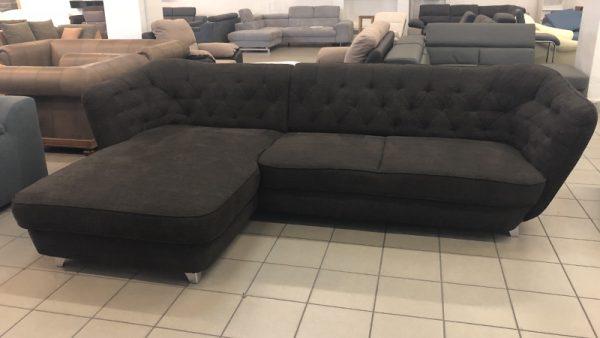 Retro velúr chesterfield kanapé