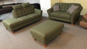 Trondheim sofa és kanapé páros ajándék puffal
