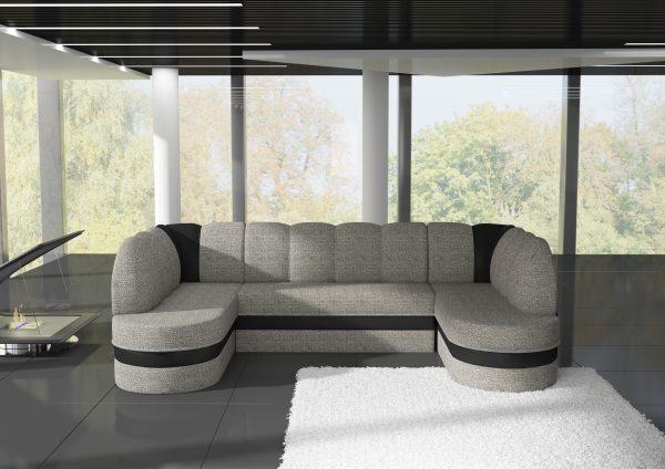 Lautrech U alakú kanapé többféle kárpittal