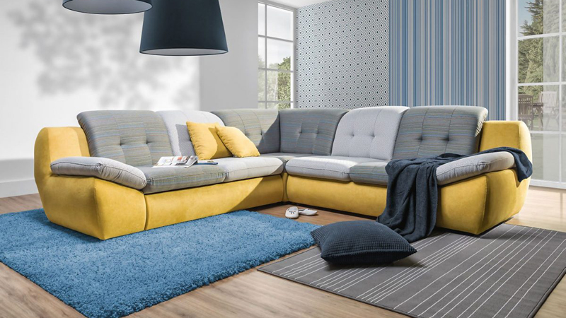 Mello L alakú fiatalos kanapé