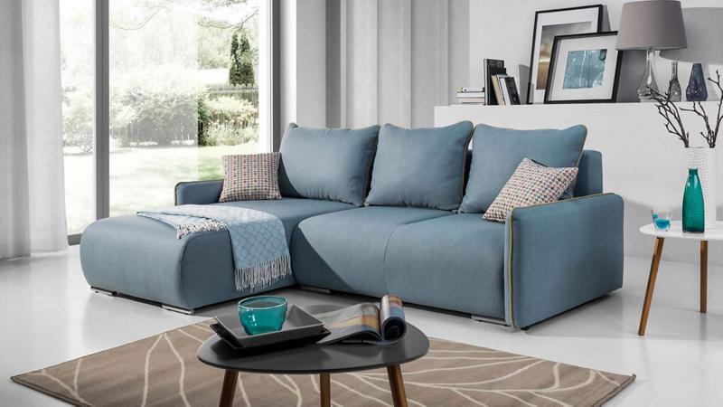 Pezzo L alakú kanapé kis modern megjelenésben