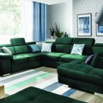 Rosso U kanapé modern vonalakkal
