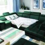 Rosso állítható fejtámlás U kanapé