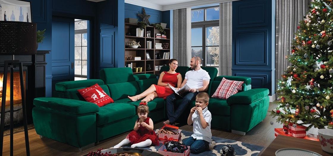 Karácsonyi otthon kanpéval