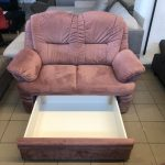 Dubai 2 személyes kanapé fiókos ágyneműtartóval
