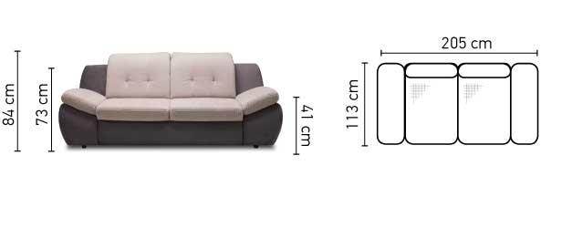 Mello 3 személyes kanapé